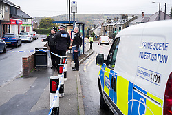 South Yorksire Police Crime Scene on Halifax Road stretching from Kilner way to Southey Green Rd. Locals information say the crime was a stabbing.<br /> <br /> 29 October 2015<br />  Image © Paul David Drabble <br />  www.pauldaviddrabble.co.uk