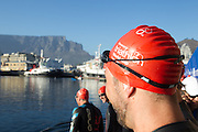 Age group participants during the Discovery Triathlon World Cup Cape Town 2017. Image by Greg Beadle