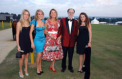 Left to right, the HON.EMILY PEARSON, the HON. ELIZA PEARSON, VISCOUNT & VISCOUNTESS COWDRAY and the HON.CATRINA PEARSON at the Cowdray Gold Cup Golden Jubilee Ball held at Cowdray Park Polo Club, on 21st July 2006.<br />