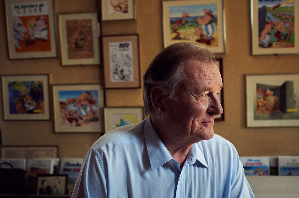 Asterix's French Cartoonist Albert Uderzo at home in Neuilly, France. September 8, 2009