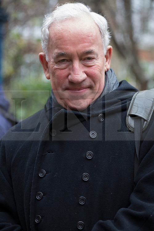 © licensed to London News Pictures. London, UK 01/12/2012. Simon Callow attending service of celebration and dedication to remember all those in the entertainment industry lost to AIDS at St Paul's Church in Covent Garden, London. Photo credit: Tolga Akmen/LNP