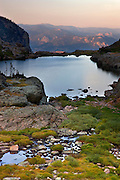 Lake of Glass, also called Glass Lake, Rocky Mountain National Park, Colorado.