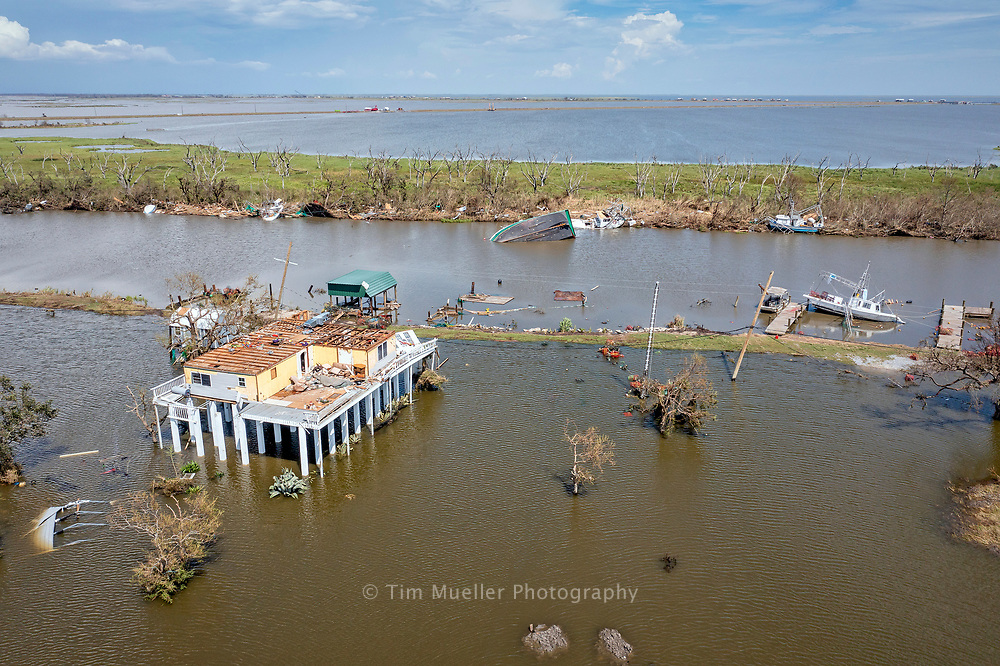 Catagory 4 Hurricane Ida passed through Terrebonne Parish with winds up to 150 mph damaging companies and homes throughout the parish.