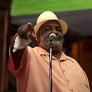 "Willie ""Bluesman"" Roach performs at McHales Irish Pub in Rock Hill, South Carolina."