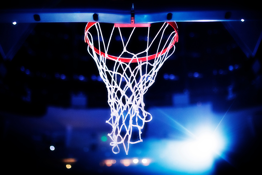 MEMPHIS, TN - OCTOBER 30:  Basketball goal during pregame show before a game between the Memphis Grizzlies and the Charlotte Hornets at the FedEx Forum on October 30, 2017 in Memphis, Tennessee.  NOTE TO USER: User expressly acknowledges and agrees that, by downloading and or using this photograph, User is consenting to the terms and conditions of the Getty Images License Agreement.  The Hornets defeated the Grizzlies 104-99.  (Photo by Wesley Hitt/Getty Images) *** Local Caption ***