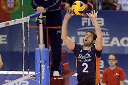 07-06-2014 NED: WLV Nederland - Portugal, Almere<br /> Een moeizame overwinning op Portugal levert Nederland twee punten op / Yannick van Harskamp