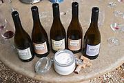 biodynamic preparation 501 ground silica in a glass jar domaine montirius vacqueyras rhone france