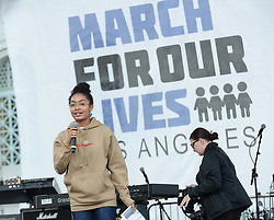 MARCH FOR OUR LIVES, protesting gun violence in schools - Los Angeles. 24 Mar 2018 Pictured: Yara Shahidi. Photo credit: MEGA TheMegaAgency.com +1 888 505 6342