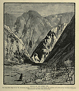 Defile of Jebel Tih, Sinai Wood engraving of from 'Picturesque Palestine, Sinai and Egypt' by Wilson, Charles William, Sir, 1836-1905; Lane-Poole, Stanley, 1854-1931 Volume 4. Published in 1884 by J. S. Virtue and Co, London