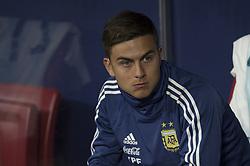 March 22, 2019 - Madrid, Madrid, Spain - Paulo Dybala of Argentina during the Friendly football match between Argentina and Venezuela at Wanda Metropolitano Stadium in 22 March 2019, Madrid, Spain, preparatory for the Copa América Brazil 2019 to be played from June 14 to July 7. (Credit Image: © Patricio Realpe/NurPhoto via ZUMA Press)