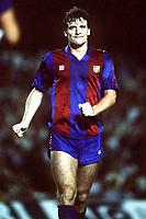 Fotball<br /> Barcelona Historie<br /> Foto: Colorsport/Digitalsport<br /> NORWAY ONLY<br /> <br /> 08.10.1986<br /> Mark Hughes (Barca)