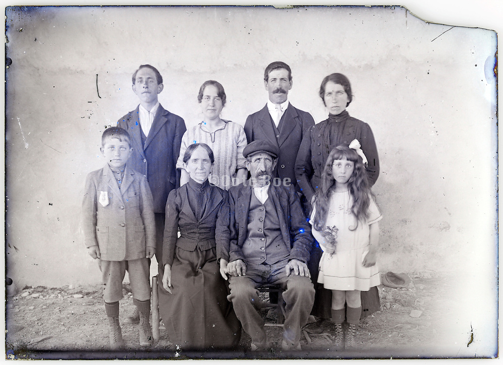 farmers extended family group portrait