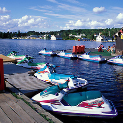 Greenville, ME. Northern Forest. Recreation. Jet skis on Moosehead Lake.