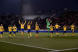 December 17, 2017 - Bologna, Italy - Players of Juventus celebrate the victory during the Serie A match between Bologna and Juventus at Renato Dall'Ara Stadium, Bologna, Italy on 17 December 2017. (Credit Image: © Giuseppe Maffia/NurPhoto via ZUMA Press)