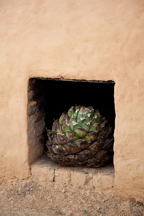 """""""Earthen Agave Oven 3"""" - This agave and earthen oven were photographed near San Sebastian, Mexico."""