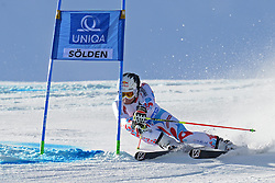 27.10.2013, Rettenbach Ferner, Soelden, AUT, FIS Weltcup, Ski Alpin, Riesenslalom, Herren, 1. Durchgang, im Bild Alexis Pinturault from France // Alexis Pinturault from France in action during 1st run of mens Giant Slalom of the FIS Ski Alpine Worldcup opening at the Rettenbachferner in Soelden, Austria on 2012/10/27. EXPA Pictures © 2013, PhotoCredit: EXPA/ Mitchell Gunn<br /> <br /> *****ATTENTION - OUT of GBR*****