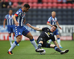 Yanic Wildschut of Wigan Athletic (L) and Darragh Lenihan of Blackburn Rovers in action - Mandatory by-line: Jack Phillips/JMP - 13/08/2016 - FOOTBALL - DW Stadium - Wigan, England - Wigan Athletic v Blackburn Rovers - EFL Sky Bet Championship
