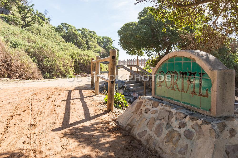 El Portal Beach Access Monument Along San Clemente Beach Trail