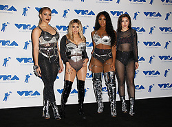 Dinah Jane, Ally Brooke, Normani Kordei and Lauren Jauregui of Fifth Harmony, winners of Best Pop for 'Down', in the Press Room at the 2017 MTV Video Music Awards at The Forum on August 27, 2017 in Inglewood, California. (Photo by CraSH/imageSPACE)
