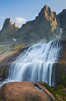 Waterfall in Cirque of the Towers, Popo Agie Wilderness, Wind River Range Wyoming