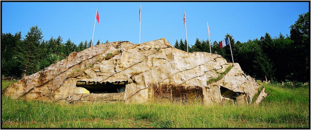 Switzerland. Vallorbe. The fort of Pré-Giroud, the fort of Vallorbe. Work strengthened by front the second world war. Situated on the heights of Vallorbe, in front of the border and of the pass of Jougne which he had to beat of his fires of artillery. <br /> Suisse. Vallorbe. Le fort de Pré-Giroud, fort de Vallorbe. Ouvrage fortifiés d'avant la deuxième guerre mondiale. Situé sur les hauts de Vallorbe, en face de la frontière et du col de Jougne qu'il devait battre de ses feux d'artillerie.