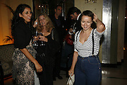 Serena Rees, Deborah Orr and Samantha Morton, Work by Mexican artist, Gabriel Orozco. Gallery opening & private view at new White Cube space, 25-26 Mason's Yard, London and afterwards at Claridges. London. 27 September 2006. <br />