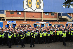24th September 2017 - Sky Bet EFL Championship - Sheffield Wednesday v Sheffield United - Police stall the away fans as they leave the ground after the match - Photo: Simon Stacpoole / Offside.