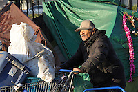 Homeless residents of Chinatown whose tents were on the front lot and alley next to 38 Soledad St., a private property, were evicted on Monday morning, October 5th by contractors hired by the city of Salinas. While their living conditions were clearly a public health hazard, no accommodation is apparently being made for their possessions or future place to live.