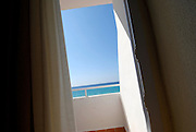 Clear blue ocean from the hotel balcony, Formentera