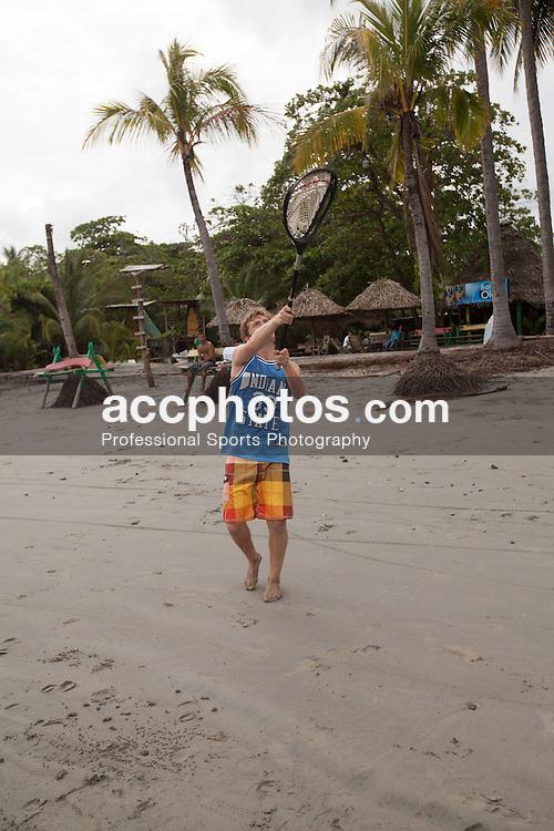 10 August 2012: On the beach of Sámara, Costa Rica.