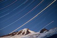Mt. Baker, Star Trails, Coleman Glacier