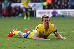 Leeds United's Patrick Bamford reacts after a missed chance during the Sky Bet Championship match at The Riverside Stadium, Middlesbrough.