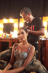 Thuy Hoang, Miss Vietnam 2019 gets hair done by a stylist from Farouk Systems, the Makers of CHI & Biosilk backstage during The MISS UNIVERSE® Competition airing on FOX at 7:00 PM ET on Sunday, December 8, 2019 live from Tyler Perry Studios in Atlanta. Contestants from around the globe have spent the last few weeks touring, filming, rehearsing and preparing to compete for the Miss Universe crown. HO/The Miss Universe Organization
