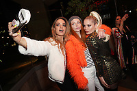 Cherish Waters, Ava Capra and Ariel Lyndsey at Los Angeles Premiere Of 'Untogether' held at Frida Restaurant on February 08, 2019 in Sherman Oaks, California, United States (Photo by JC Olivera)
