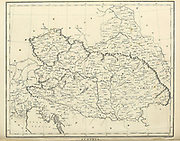 Ancient map of Austria 1810 Copperplate engraving From the Encyclopaedia Londinensis or, Universal dictionary of arts, sciences, and literature; Volume II;  Edited by Wilkes, John. Published in London in 1810