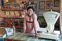 Mongolie. Province de Tov. Commerce de la steppe. // Mongolia. Tov province. Local store in the small village in the steppe.