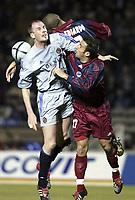 BORDEAUX, (FRA) 11/03/2004<br /> SPORT / FOOTBALL / VOETBAL /<br /> 1/8 FINALE UEFA BEKER CLUB BRUGGE - F.C. BORDEAUX / 1/8 FINALE FC BRUGES - F.C. GIRONDINS DE BORDEAUX /<br /> PHILIPPE CLEMENT - EDUARDO COSTA - MARC PLANUS /<br /> PICTURE BY NICO VEREECKEN<br /> DIGITALSPORT