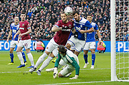 GOAL 1-0 West Ham United forward Marko Arnautovic (7) scores and celebrates during the The FA Cup 3rd round match between West Ham United and Birmingham City at the London Stadium, London, England on 5 January 2019.