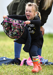 The Whatley Manor International Horse Trials at Gatcombe Park, Minchinhampton, Gloucestershire, UK, on the 9th September 2017. 09 Sep 2017 Pictured: Mia Tindall. Photo credit: James Whatling / MEGA TheMegaAgency.com +1 888 505 6342
