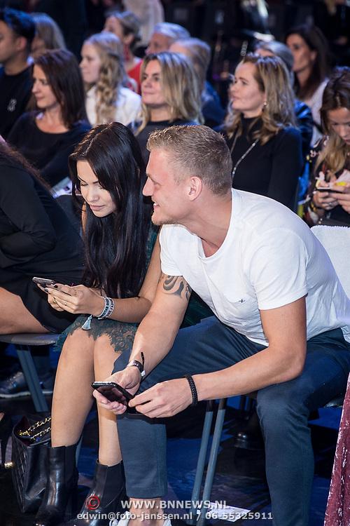 NLD/Amsterdam/20171030 - Holland Next Top Model 2017 finale, Monica Geuze en partner Lars Veldwijk