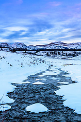 Dell Creek Sunset, Bondurant Wyoming. Bondurant is one of the ice boxes of Wyoming and I was happy to find Dell Creek wasn't iced over upon my arrival.