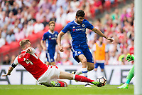 Arsenal's Per Mertesacker makes a key challenge on Chelsea's Diego Costa in front of goal       <br /> <br /> <br /> Photographer Craig Mercer/CameraSport<br /> <br /> The Emirates FA Cup Final - Arsenal v Chelsea - Saturday 27th May 2017 - Wembley Stadium - London<br />  <br /> World Copyright © 2017 CameraSport. All rights reserved. 43 Linden Ave. Countesthorpe. Leicester. England. LE8 5PG - Tel: +44 (0) 116 277 4147 - admin@camerasport.com - www.camerasport.com