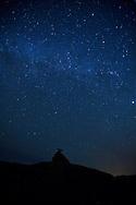 The Milky Way Galaxy over Mexican Hat Rock, Utah.