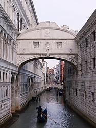 Bridge of Sighs in Venice Italy