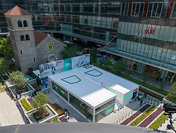 April 18, 2018 - Shanghai, Shanghai, China - Shanghai, CHINA-18th April 2018: The white jeans shaped building is a store of a jeans brand in Shanghai. (Credit Image: © SIPA Asia via ZUMA Wire)