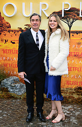 Andy Harries and Emmy Harries attending the global premiere of Netflix's Our Planet, held at the Natural History Museum, London.