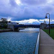 """Charlevoix Drawbridge""<br /> <br /> Follow the walkway to the drawbridge in Charlevoix Michigan."