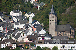 Wellmich village on  River Rhine in Rhineland Germany