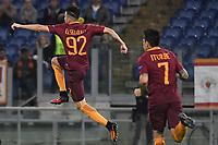Esultanza Gol Stephan El Shaarawy Roma Goal celebration 1-1 <br /> Roma 20-10-2016  Stadio Olimpico <br /> Football Calcio Europa League AS Roma - Austria Wien <br /> Foto Andrea Staccioli / Insidefoto