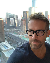 "Ryan Reynolds releases a photo on Instagram with the following caption: ""Got my eye on you Underpants Building. Thank you to the incredible people of Beijing for inviting Deadpool onto your screens. \ud83c\udde8\ud83c\uddf3 \u2694\ufe0f"". Photo Credit: Instagram *** No USA Distribution *** For Editorial Use Only *** Not to be Published in Books or Photo Books ***  Please note: Fees charged by the agency are for the agency's services only, and do not, nor are they intended to, convey to the user any ownership of Copyright or License in the material. The agency does not claim any ownership including but not limited to Copyright or License in the attached material. By publishing this material you expressly agree to indemnify and to hold the agency and its directors, shareholders and employees harmless from any loss, claims, damages, demands, expenses (including legal fees), or any causes of action or allegation against the agency arising out of or connected in any way with publication of the material."